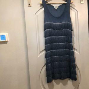 Vintage denim blue Fringe dress